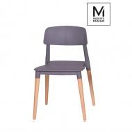 Krzesło Ecco Modesto Design szare-drewno bukowe