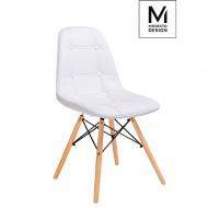 Krzesło Ekos Wood białe-podstawa bukowa