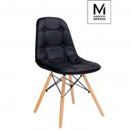 Krzesło Ekos Wood czarne-podstawa bukowa