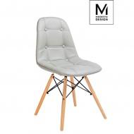 Krzesło Ekos Wood szare-podstawa bukowa
