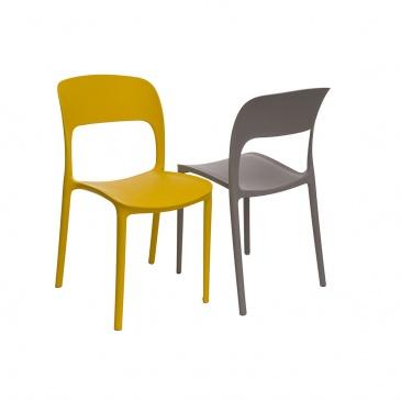 Krzesło Flexi żółte