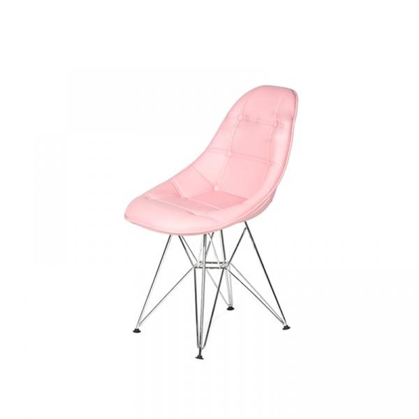 Krzesło King Bath Eames EPC DSR ekoskóra cukierkowy różowy LI-KK-132PU.M.ROZ.JASNY