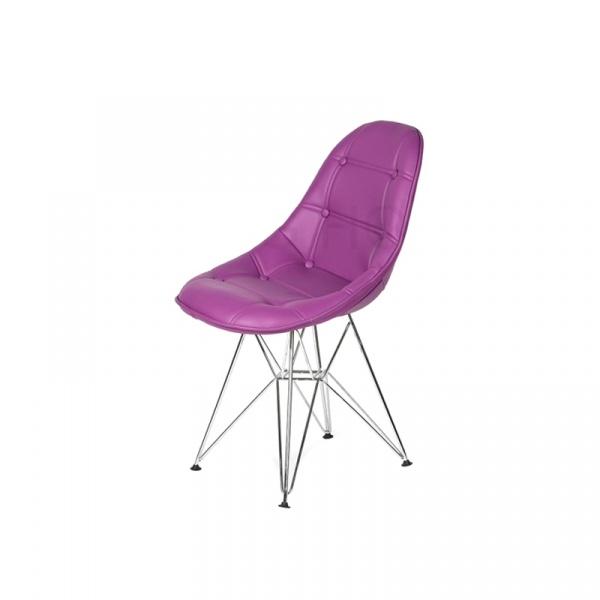 Krzesło King Bath Eames EPC DSR ekoskóra fioletowa purpura LI-KK-132PU.M.FIOLETOWY