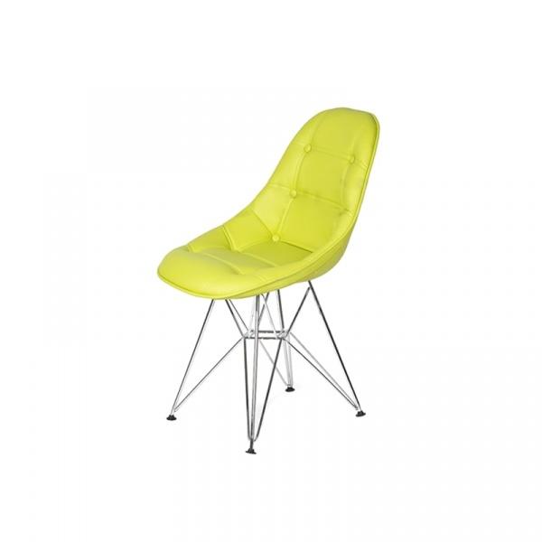 Krzesło King Bath Eames EPC DSR ekoskóra limonka LI-KK-132PU.M.ZIELONY.JASNY