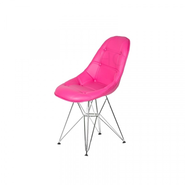 Krzesło King Bath Eames EPC DSR ekoskóra wściekły róż LI-KK-132PU.M.ROZ.CIEMNY