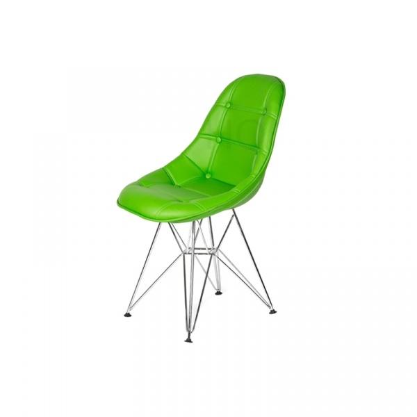 Krzesło King Bath Eames EPC DSR ekoskóra żywa zieleń LI-KK-132PU.M.ZIELONY.CIEMNY