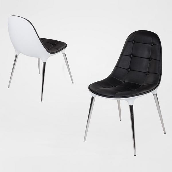 Krzesło King Bath Passion czarno-białe A-062