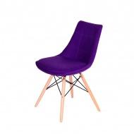 Krzesło King Home Fabric fioletowe