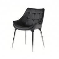 Krzesło King Home Philippe Passion czarne