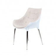 Krzesło King Home Philippe Passion tkanina beżowa