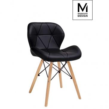 Krzesło Klipp Modesto Design czarne-drewno bukowe