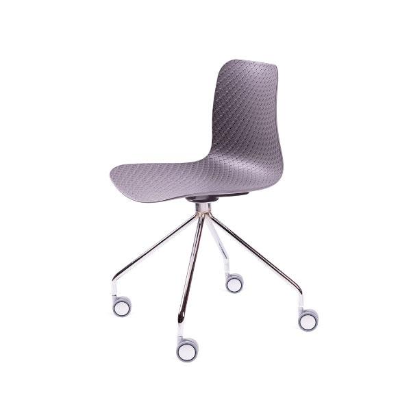 Krzesło Krado Roll King Home szary SI-KNET-10.GREY