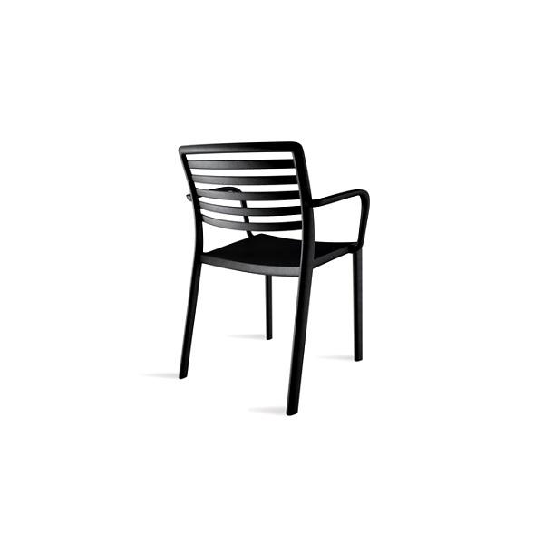 Krzesło LAMA czarne z podłokietnikami DK-23006