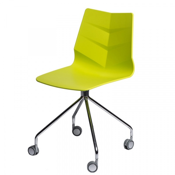 Krzesło Leaf Roll limonkowe DK-64218