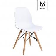 Krzesło Leaf Wood Modesto Design białe-drewno bukowe