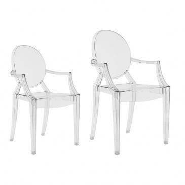 Krzesło Louis Victoria Ghost junior porownanie transparentne