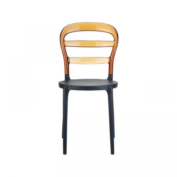 Krzesło Miss Bibi black/amber DK-5417
