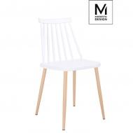 Krzesło Modesto Ribs białe
