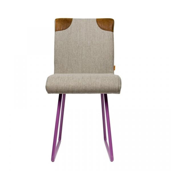 Krzesło na płozach Gie El fioletowy FST0021