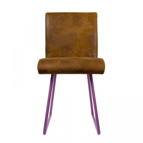 Krzesło na płozach Gie El fioletowy FST0031