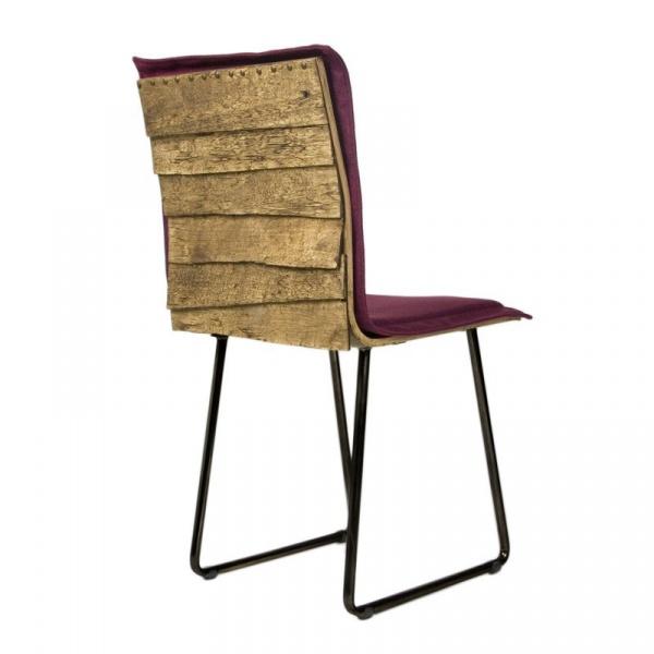 Krzesło na płozach Gie El Gont czarny/burgund  FST0150