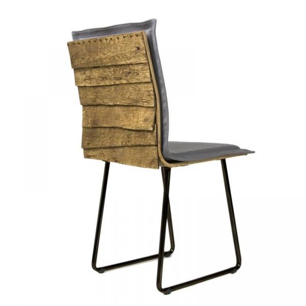 Krzesło na płozach Gie El Gont czarny/szary FST0147