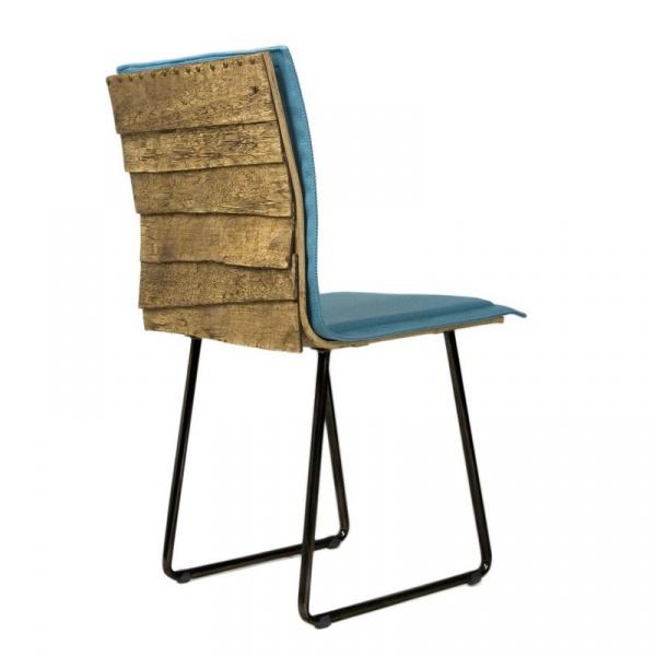 Krzesło na płozach Gie El Gont czarny/turkus FST0148