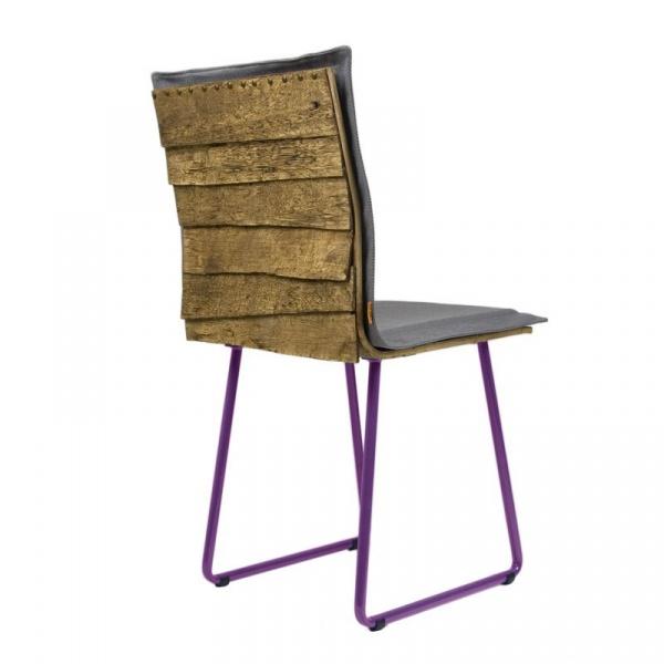 Krzesło na płozach Gie El Gont fiolet/szary FST0143