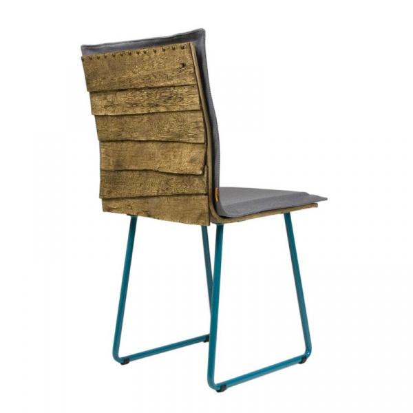 Krzesło na płozach Gie El Gont turkus/szary FST0145