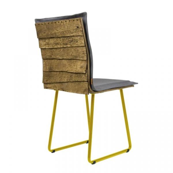 Krzesło na płozach Gie El Gont żółty/szary FST0141