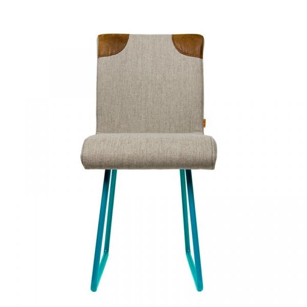 Krzesło na płozach Gie El turkusowy FST0022