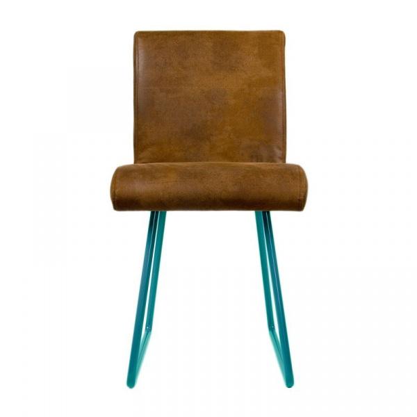 Krzesło na płozach Gie El turkusowy FST0032
