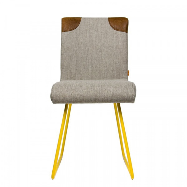 Krzesło na płozach Gie El żółty FST0020