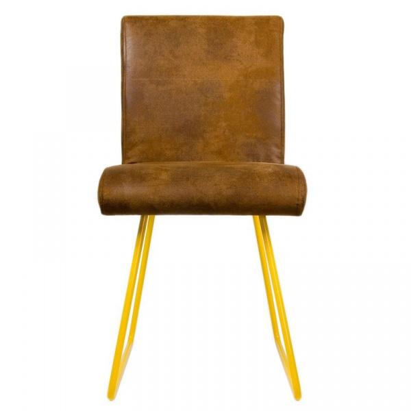 Krzesło na płozach Gie El żółty FST0030
