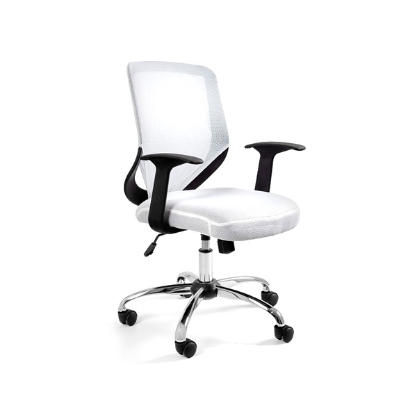 Krzesło obrotowe Unique Mobi białe W-95-0