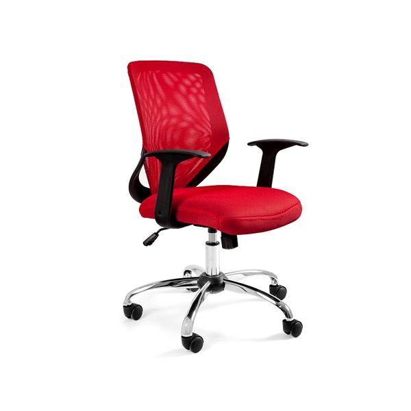 Krzesło obrotowe Unique Mobi czerwone W-95-2