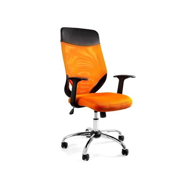 Krzesło obrotowe Unique Mobi Plus pomarańczowe W-952-5