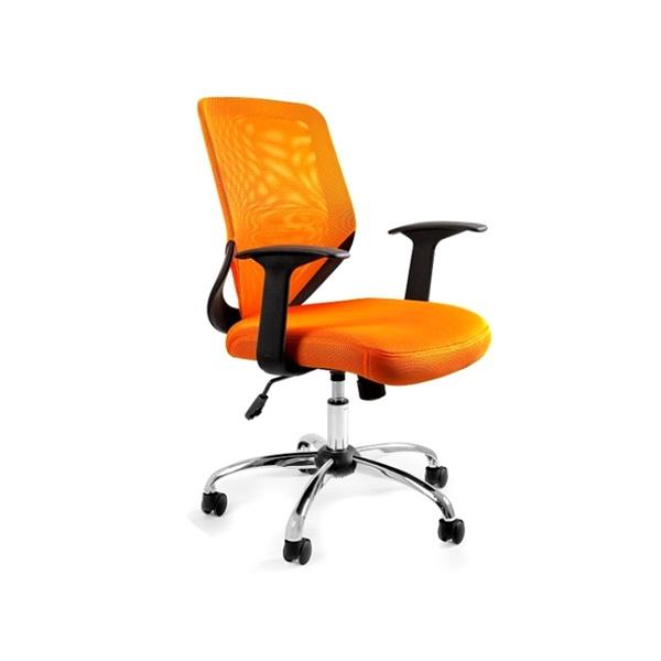 Krzesło obrotowe Unique Mobi pomarańczowe W-95-5