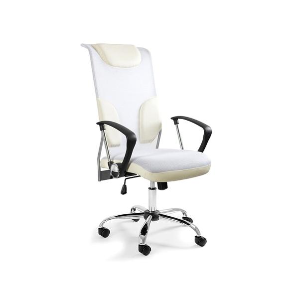 Krzesło obrotowe UNIQUE Thunder białe W-58-0