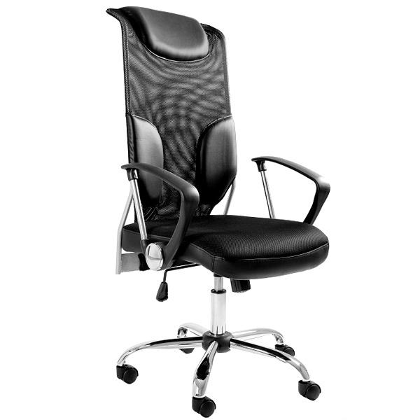 Krzesło obrotowe UNIQUE Thunder czarny W-58-4