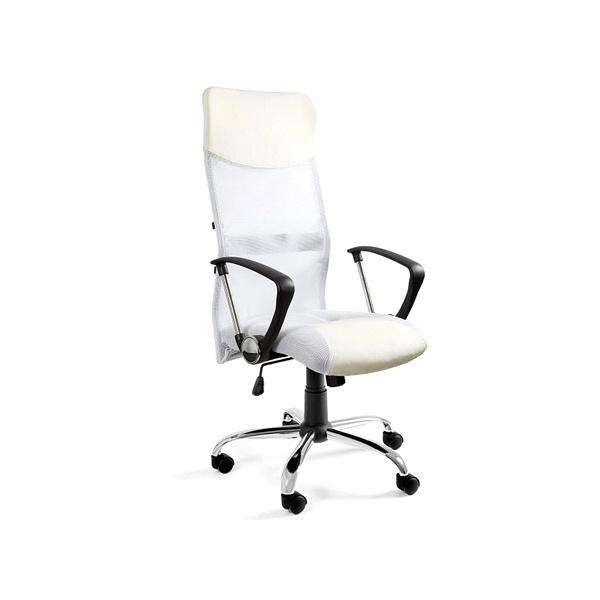 Krzesło obrotowe UNIQUE Viper białe W-03-0