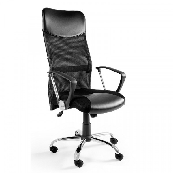 Krzesło obrotowe UNIQUE Viper czarne W-03-4