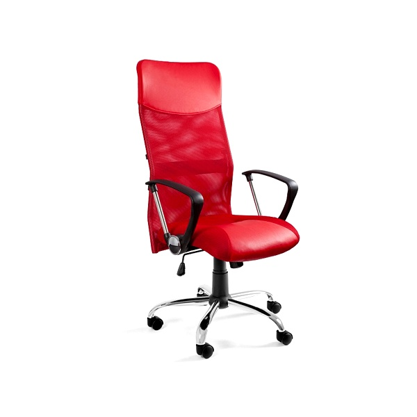 Krzesło obrotowe UNIQUE Viper czerwone W-03-2