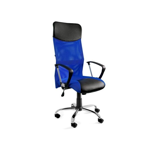 Krzesło obrotowe UNIQUE Viper niebieskie W-03-7