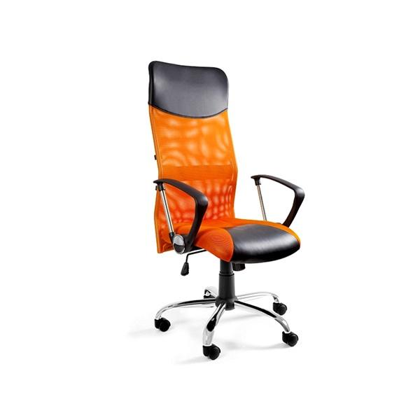 Krzesło obrotowe UNIQUE Viper pomarańczowe W-03-5