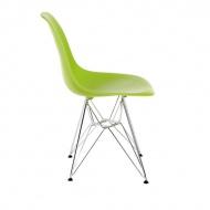 Krzesło P016 PP zielone, chromowane nogi