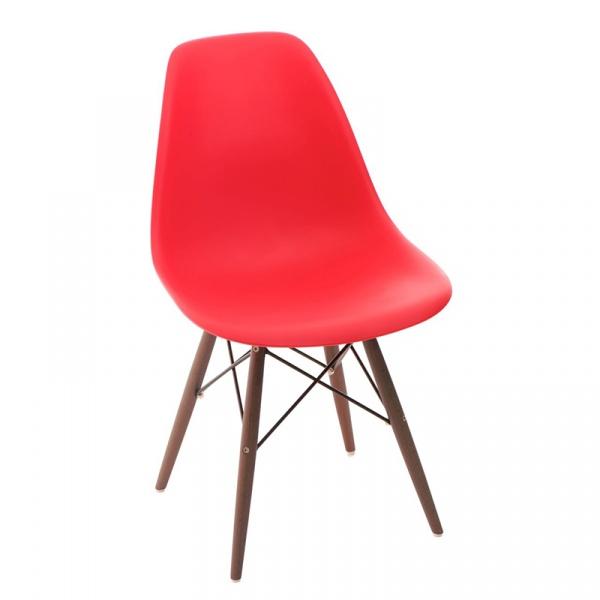 Krzesło P016W PP czerwone/dark DK-63441