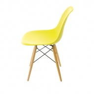 Krzesło P016W PP dark olive, drewniane  nogi