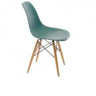 Krzesło P016W PP navy green, drewniane nogi