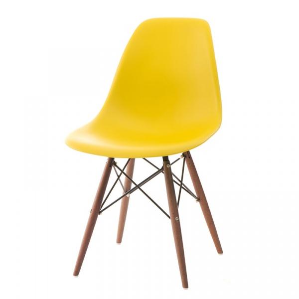 Krzesło P016W PP żółte/dark DK-63486